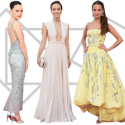 Clothing, Sleeve, Dress, Shoulder, Textile, Standing, Formal wear, One-piece garment, Pattern, Waist,
