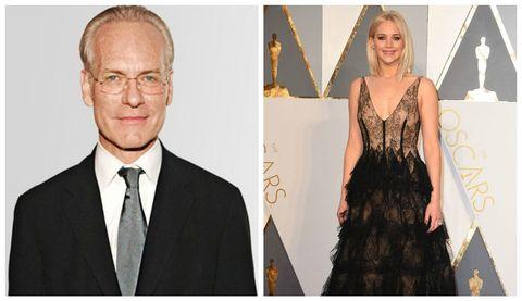 Tim Gunn and Jennifer Lawrence