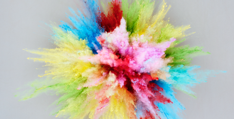 Colorfulness, Yellow, Green, Pink, Magenta, Paint, Art, Orange, Art paint, Visual arts,
