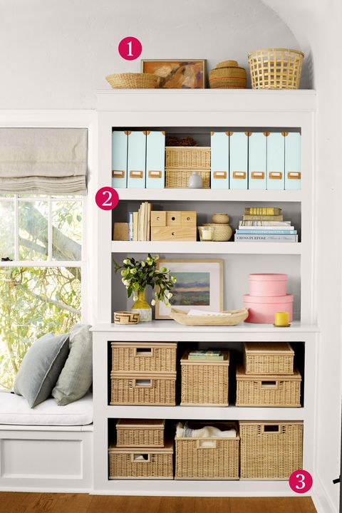 Office Organized Bookshelf