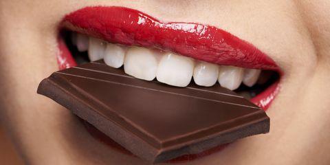 Lip, Skin, Tooth, Jaw, Eyelash, Organ, Dessert, Close-up, Chocolate, Photography,