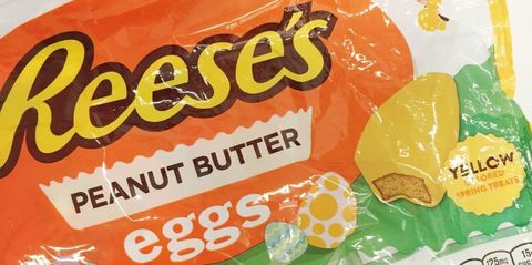 Reese's peanut butter cup eggs