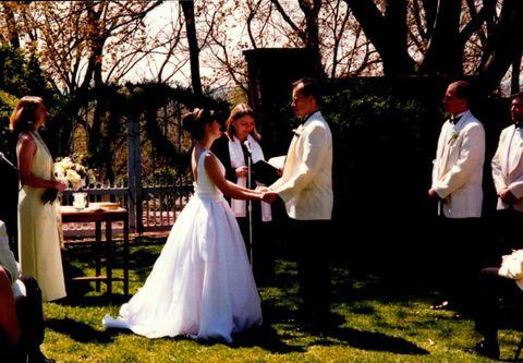 Dress, Event, Trousers, Photograph, Bridal clothing, Formal wear, Coat, Gown, Petal, Wedding dress,