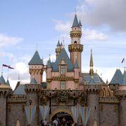 Sky, Cloud, Walt disney world, Castle, Cumulus, Spire, Turret, Finial, Medieval architecture, Tourist attraction,