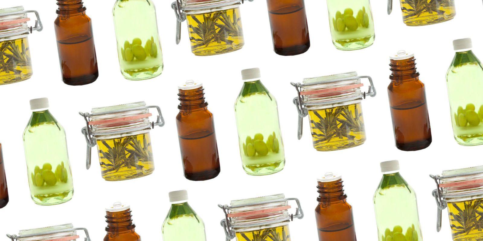 homemade face serums in glass jar