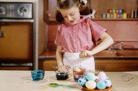 Child, Teal, Easter egg, Turquoise, Shelf, Serveware, Toddler, Easter, Egg, Headpiece,