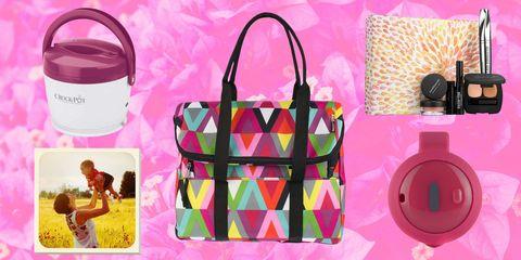 Pink, Magenta, Bag, Shoulder bag, Luggage and bags, Circle, Present, Home accessories, Tote bag, Plastic,