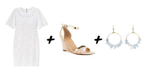 Sleeve, Tan, Beige, Sandal, High heels, Slingback, Illustration, Clothes hanger, Active shirt, Bridal shoe,
