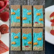 Teal, Sweetness, Turquoise, Fruit, Paint, Strawberries, Natural foods, Produce, Berry, Recipe,