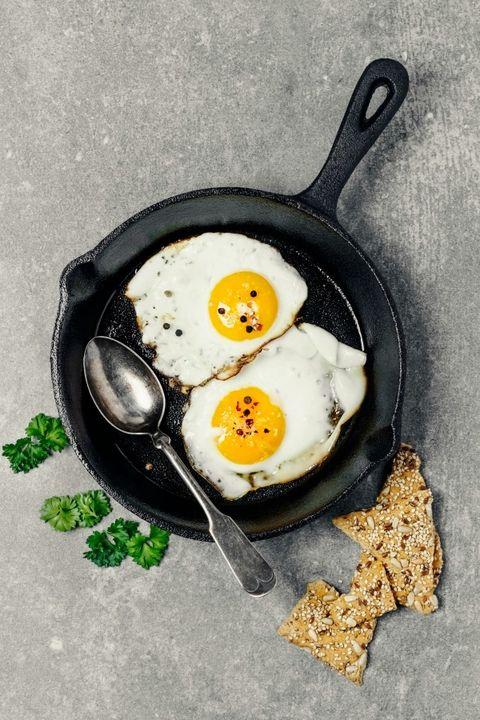 Egg yolk, Food, Ingredient, Egg white, Fried egg, Breakfast, Cuisine, Recipe, Cooking, Meal,