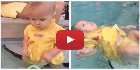 Mom of Baby Struggling to Swim in Viral Video Claps Back at Critics
