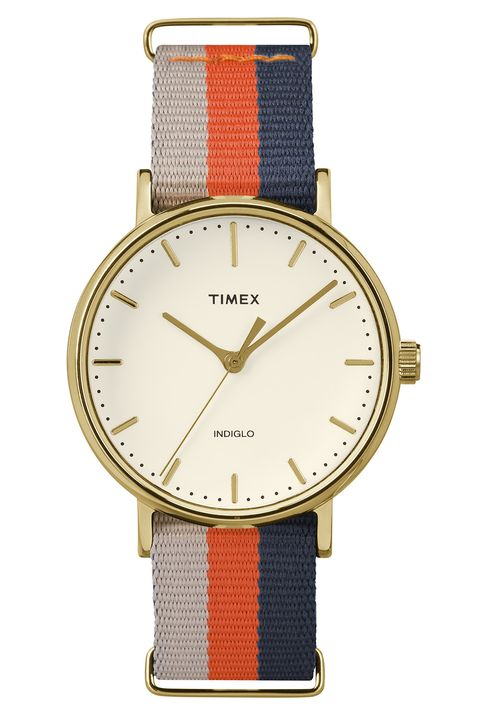 "<p>This spring, give your favorite grad the gift of looking away from that iPhone (if only for a second) by reminding her how stunning analog can be. This stylish timepiece is a classic that will stand the test of time, and is sure to draw a few ""where'd you get that?""s from new colleagues.<br> </p><p><strong>Weekender Fairfield Watch, $60; <a href=""http://www.timex.com/watches/weekender-fairfield-tw2p91600"" target=""_blank"">timex.com</a></strong><a href=""http://bit.ly/1UEUfoT"" target=""_blank"">.<br></a></p>"