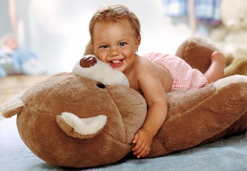 Smile, Cheek, Product, Happy, Facial expression, Stuffed toy, Child, Baby & toddler clothing, Comfort, Plush,