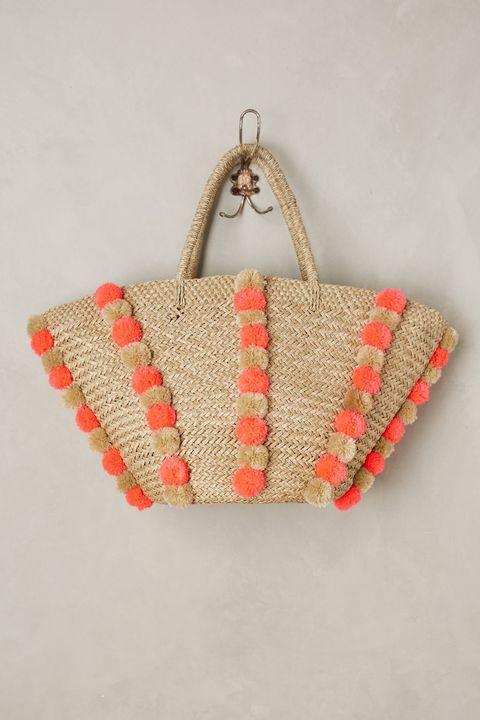 Textile, Red, Fashion accessory, Bag, Beige, Coquelicot, Craft, Shoulder bag, Creative arts, Fashion design,