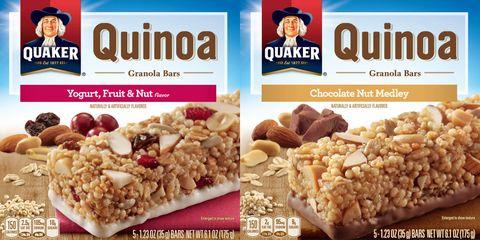 Quaker quinoa granola bar recall