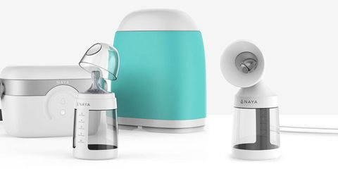 Product, Aqua, Turquoise, Teal, Cylinder, Circle, Silver, Kitchen appliance accessory, Personal care, Kitchen appliance,