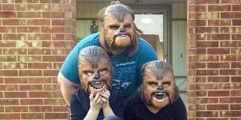 Chewbacca mask lady