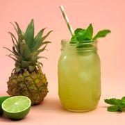 Green, Leaf, Fruit, Drink, Ananas, Citrus, Produce, Ingredient, Natural foods, Lemon,