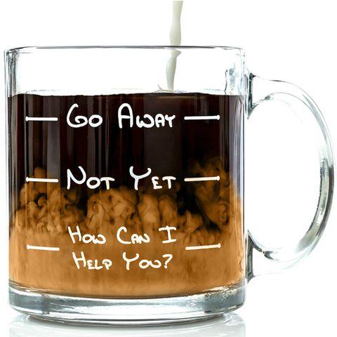 Funny Glass Coffee Mug