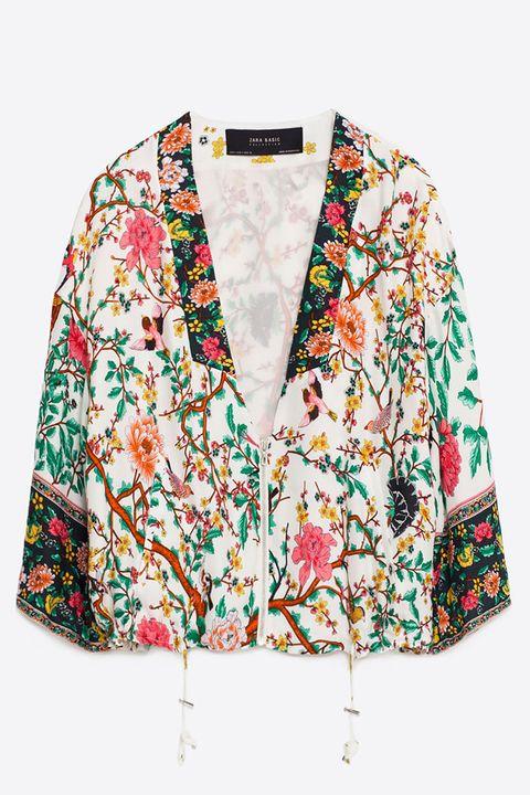 zara floral kimono bomber jacket