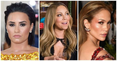 Demi Lovato, Mariah Carey, and Jennifer Lopez