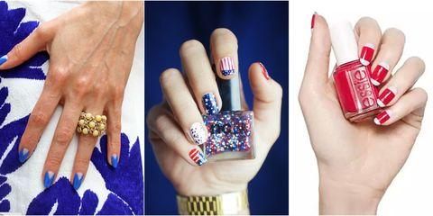 Blue, Finger, Skin, Nail, Red, Wrist, Fashion accessory, Pattern, Purple, Majorelle blue,
