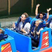 Fun, People, Recreation, Social group, Community, Leisure, Amusement ride, Amusement park, Roller coaster, Crew,
