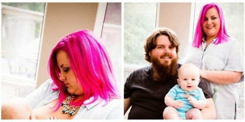 Human, Mouth, People, Hairstyle, Skin, Purple, Pink, Happy, Magenta, Baby & toddler clothing,
