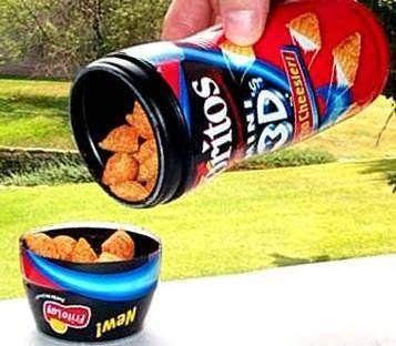 <p>Not quite as good as Bugles but way cooler than plain old Doritos.</p>