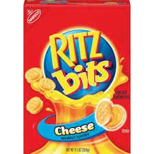 <p>These tiny cheese cracker sandwiches were totally addictive.</p>