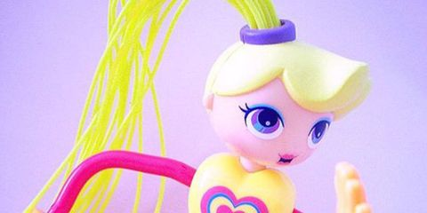 Yellow, Purple, Pink, Toy, Violet, Fictional character, Magenta, Lavender, Cartoon, Baby toys,