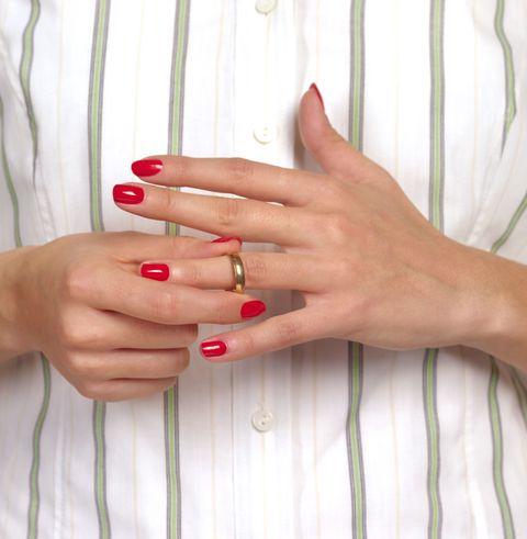 Finger, Skin, Hand, Nail, Nail care, Nail polish, Manicure, Jewellery, Body jewelry, Ring,