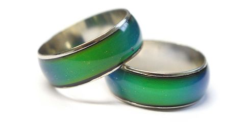 """<p>You got these from one of those gumball machine things at a pizza place after a soccer game. </p><p><a href=""""http://www.ebay.co.uk/itm/Amazing-Genuine-Colour-Changing-Mood-Ring-Mood-Chart-8-Sizes-Available-/141027101166""""><em>Ebay.com</em></a></p>"""