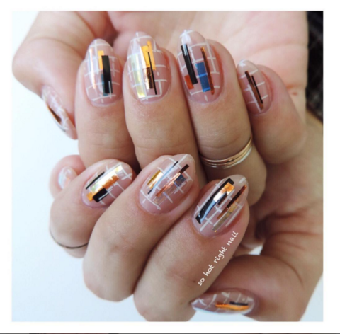 colorful grid nail art - 34 Fall Nail Designs For 2017 - Cute Autumn Manicure Ideas