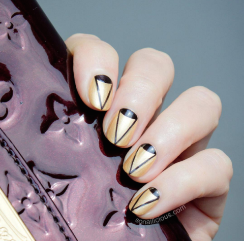 Angular Art Nail Design