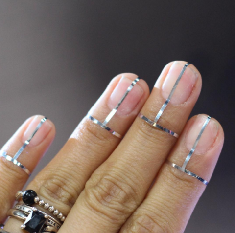 Silver Fall Nail Art Design