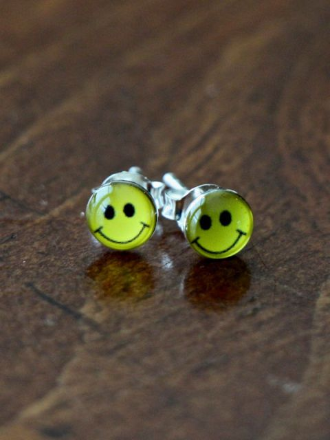 """<p>Smiley faces on everything.</p><p><a href=""""https://www.etsy.com/listing/212287215/happy-face-earrings-sterling-silver?ga_order=most_relevant&ga_search_type=all&ga_view_type=gallery&ga_search_query=smiley%20face%20earrings&ref=sr_gallery_35""""><em>Etsy.com</em></a></p>"""