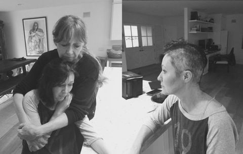 Shannen Doherty shaves head