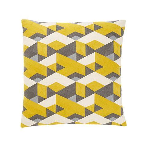 Yellow, Pattern, Linens, Aqua, Rectangle, Beige, Turquoise, Triangle, Square, Cushion,