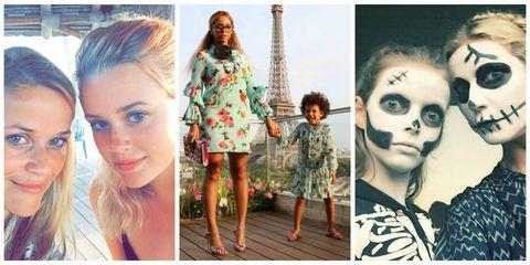 identical celebrity moms and kids