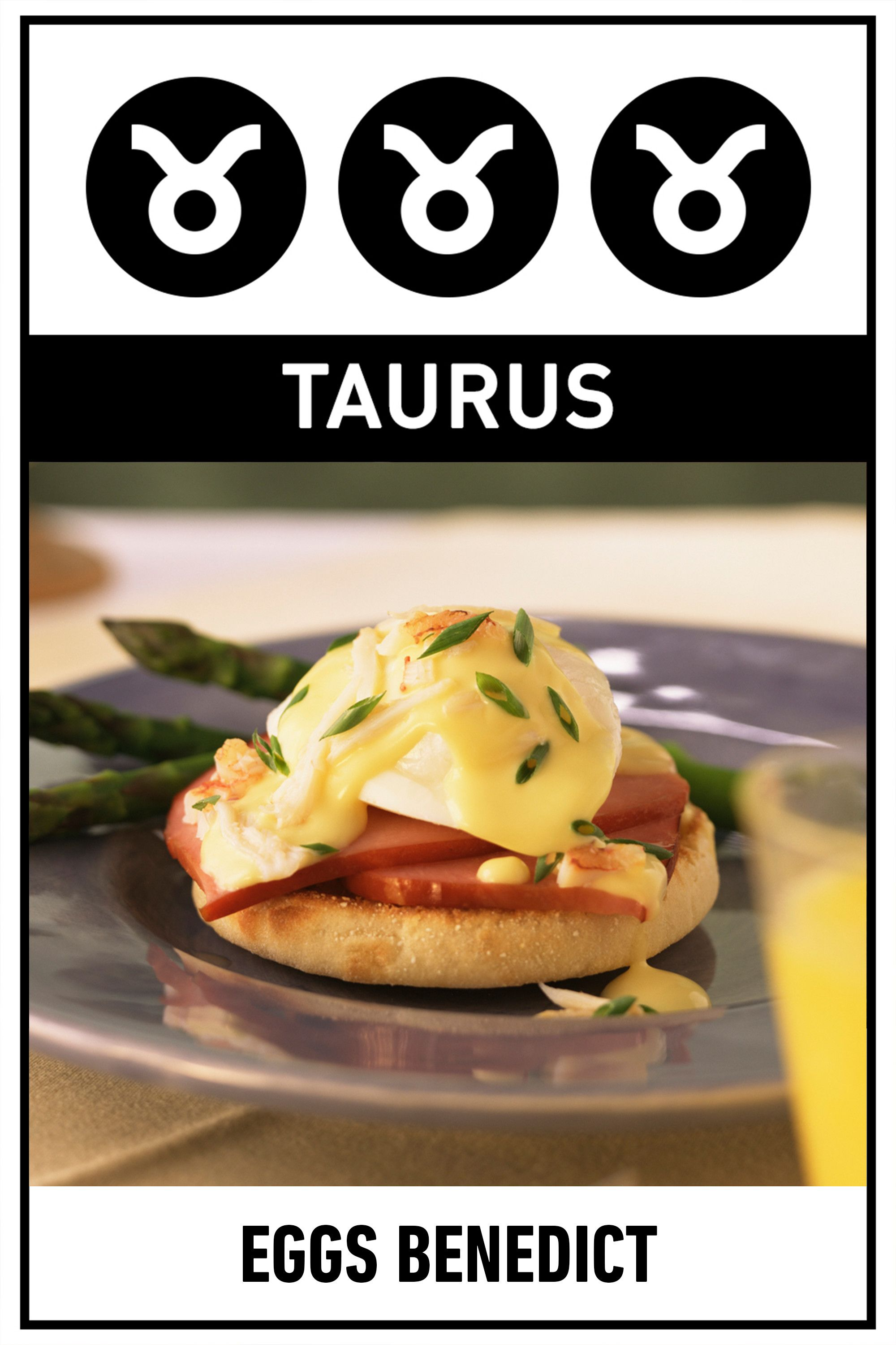 "<p><strong>Your Perfect Breakfast:</strong> Eggs Benedict</p><p><strong>Why:</strong> If you're going out for brunch, you're going to go all out, choosing the most decadent dish on the menu, and for good reason—you don't believe in settling, whether it comes to calories or career choices. </p><p>Get the <a href=""http://www.delish.com/cooking/recipe-ideas/recipes/a29855/light-eggs-benedict-recipes/"">recipe</a>.  </p>"