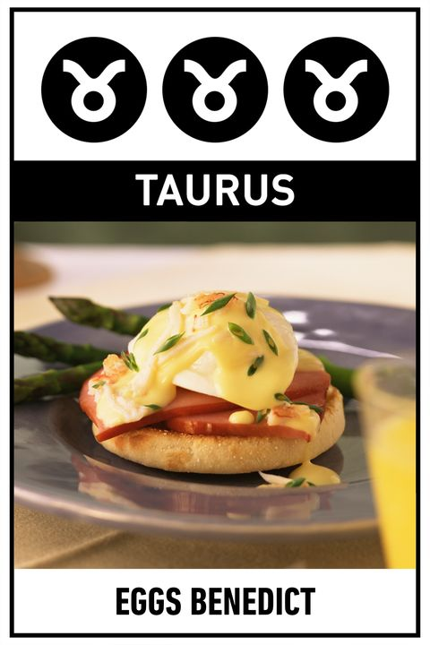 """<p><strong>Your Perfect Breakfast:</strong> Eggs Benedict</p><p><strong>Why:</strong> If you're going out for brunch, you're going to go all out, choosing the most decadent dish on the menu, and for good reason—you don't believe in settling, whether it comes to calories or career choices. </p><p>Get the <a href=""""http://www.delish.com/cooking/recipe-ideas/recipes/a29855/light-eggs-benedict-recipes/"""">recipe</a>.  </p>"""
