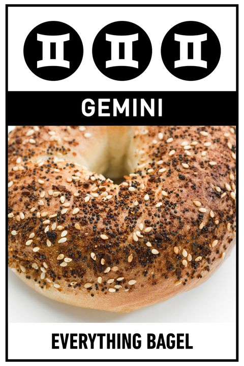 "<p><strong>Your Perfect Breakfast:</strong> Everything Bagel</p><p><strong>Why:</strong> You're all about connecting with others, so getting up early and meeting a friend for bagels before work—or bringing a box to the office—would be perfect for you. An everything bagel has just the mix of salty and savory flavors to keep you interested.</p><p>If you want to take breakfast to the next level, try these <a href=""http://www.delish.com/cooking/videos/a48336/how-to-make-everything-bagel-dogs/"">everything bagel dogs</a>.</p>"