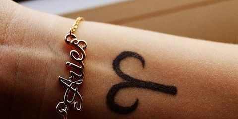 "<p>Be a spontaneous and daring <a href=""http://thatlaurenalex.tumblr.com/post/63518547265"" target=""_blank"">Aries</a> and get this adorable tattoo on the inside of your wrist. </p>"