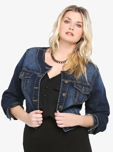 plus-size denim jacket