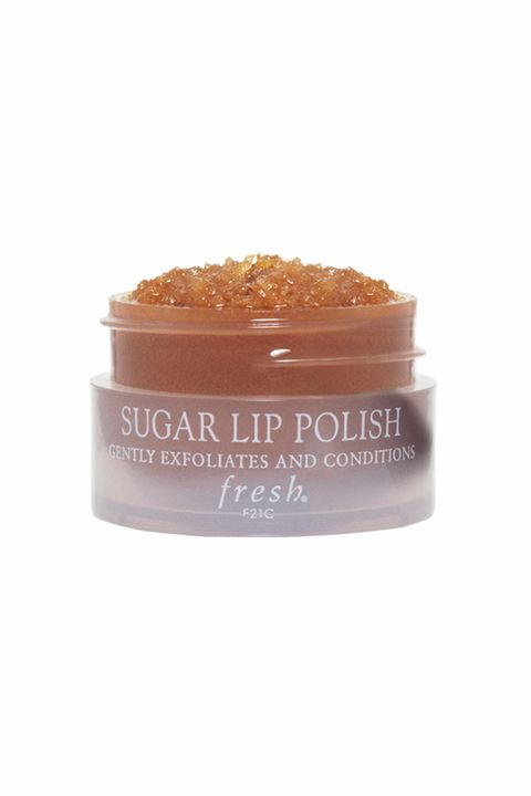"<p>To get a polished finish and longer wear from your lipstick, make sure lips are perfectly smooth. Start by massaging a gentle lip scrub (try <a href=""http://www.fresh.com/US/lipcare/sugar-lip-polish/H00001924.html"" target=""_blank"">Fresh Brown Sugar Lip Polish</a>, $24), in small circular motions to buff away any flakiness or dry patches and create a clean canvas for the color. In a pinch, you can use a toothbrush to get the same effect.</p>"