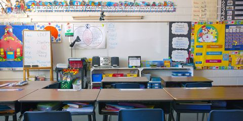 Room, Table, Furniture, Office supplies, Stationery, Office equipment, Classroom, Whiteboard, Desk, Display board,