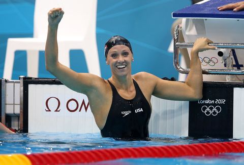 Swimmer, Swimming pool, Swim cap, Leisure, Swimwear, Chest, Cap, Competition event, Headgear, Muscle,