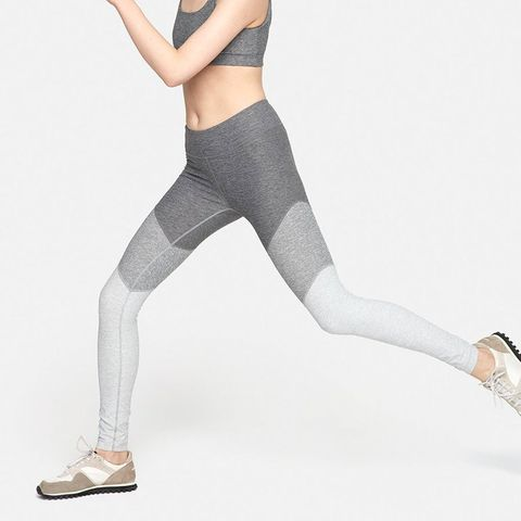 outdoor voices spring legging in chevron grey
