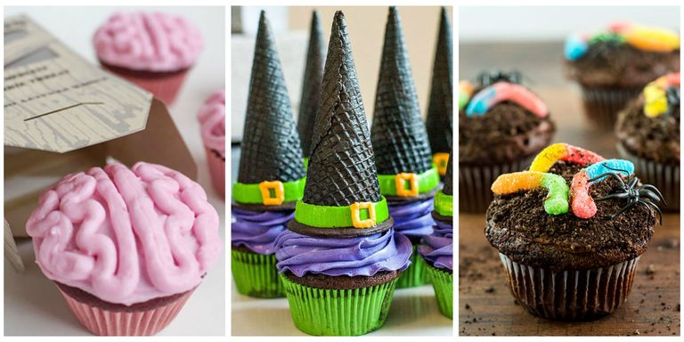 16 Easy Halloween Cupcake Recipes - Halloween Cupcake Decorating Ideas